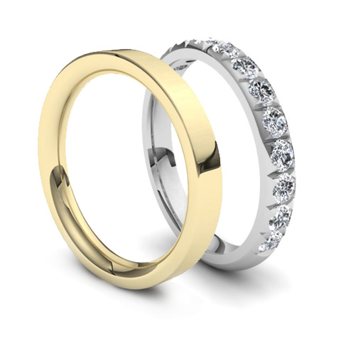 Plain Wedding Band Vs Diamond Wedding Band Image