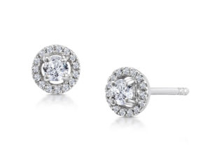 Halo-diamond-earrings